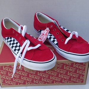 VANS CHECKERBOARD Corduroy Skate Shoes Sneaker 13